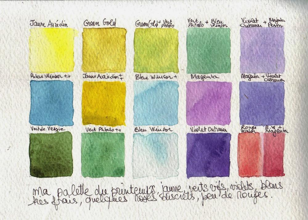 La palette de couleurs du printemps l 39 atelier en balade - Couleur du printemps ...